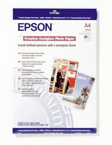 Papir Epson C13S041332, A4, 20L,...