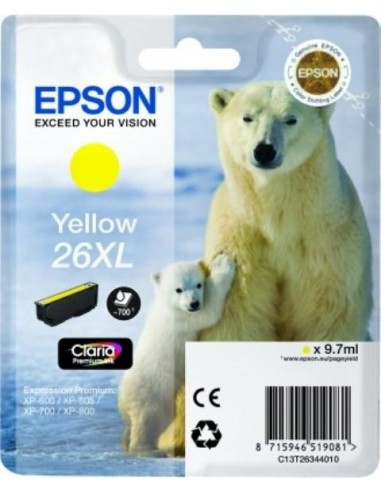 Epson kartuša 26XL Yellow za...