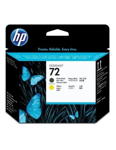 HP glava 72 Matte-črna-Yellow za...