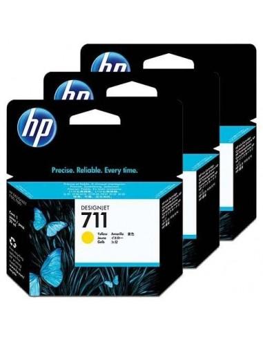 HP komplet kartuš 711 3x Yellow za...