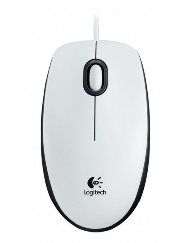 Miška Logitech M100, bela, USB