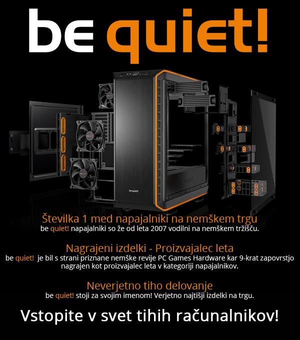 be quiet! napajalniki ohišja in ventilatorji